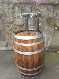 Wine Barrel Kegerator Double Tap System on Etsy, $1,500.00