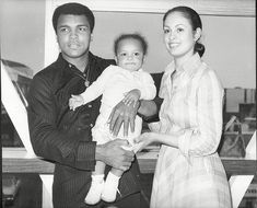 Muhammad Ali, pictured with his 3rd wife Veronica Ali and daughter, Hana, died aged 74 aft...