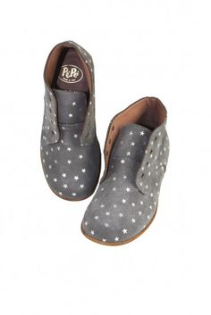 Grey Suede Star Shoes by PePe | Little Skye Children's Boutique @littleskyekids