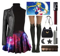 """Sailor Moon Additions"" by miss-orchid ❤ liked on Polyvore featuring Michael Kors, Boohoo, NARS Cosmetics and MAC Cosmetics"