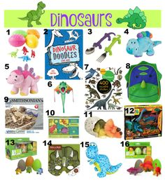 The Well Styled Child Dinosaur Themed Easter Basket Ideas  #easter #basket #ideas #fillers #kids