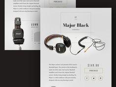 Marshall Major Black Headphones Design Concept