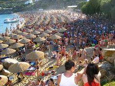 100 Days of Summer! – Get Super Hyped for Super Paradise Beach Club in Mykonos, Greece! Paros, Club Mykonos, Super Paradise Beach, Mykonos Island Greece, Myconos, 100th Day, Beach Club, Summer Activities, Greek Islands