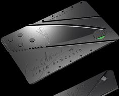 Utility Knife Folds into Card You Can Stash in Your Wallet...cool
