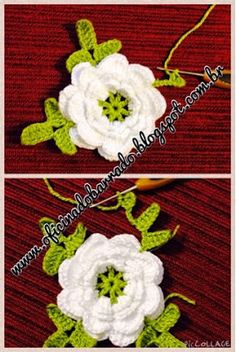 ergahandmade: Crochet Edging With Flowers + Free Pattern Step By Step + Diagram Crochet Square Pattern, Crochet Borders, Crochet Flower Patterns, Crochet Motif, Crochet Designs, Crochet Doilies, Crochet Lace, Love Crochet, Irish Crochet