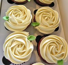 Mother's Day Rosette Cupcakes