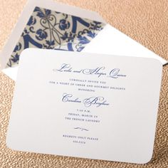 Simple & classic    Impeccably Well-Rounded Invitation