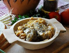Pickled Cabbage Rolls with Mushroom and Brown Rice Stuffing