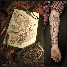 Eagle Tattoo by Santi Bord