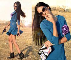 Zara (Two Years Ago) Dress, Diy Flower Pinch, Emilio Pucci Purse, Www.Topshop.Com Ambush Booties