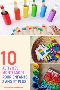 10 Montessori activities for children 2 years and older, to occupy them during the holidays - Montessori Baby, Montessori Trays, Montessori Education, Montessori Materials, Montessori Activities, Color Activities, Montessori Bedroom, Baby Education, Toddler Learning Activities