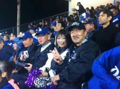 """THINK BLUE: Mom and dad with #Uchinaa #Okinawa Governor Takeshi Onaga at the #LADodgers baseball game. I think this is their way of saying """"aren't you homesick yet?!"""" :P  Dodgers Stadium in Los Angeles California [5/11/2016] by papershopprojects"""
