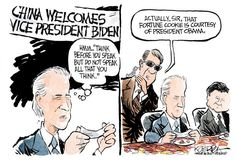 Vice President http://www.cagle.com/2013/12/china-welcomes-biden/ 141430 600 China Welcomes Biden cartoons