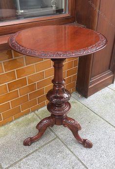 ~ Victorian Mahogany Occasional Table/ Wine Table, ca. 1870-1880 ~ antiques-atlas.com