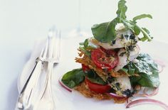 Chicken breast and tomato crisp mille feuille