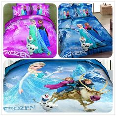 Frozen Bedding Elsa Anna Bedding for Girls 100% Cotton Frozen Duvet Cover Sheet Set Kids Bedding Pink/Blue Twin/Full/Queen/King $69.00 - 99.00
