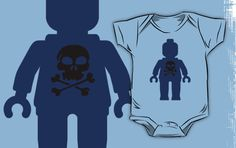 """Minifig with Skull Design by Customize My Minifig"" Kids Clothes by ChilleeW 