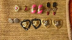 Chanel charms painted. Fendi, Gucci and other vintage clip on earrings painted and converted to post.
