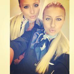 Air Transat Twin Sister Stewardesses