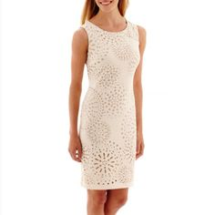 Love this summer party dress! Worthington® Sleeveless Laser-Cut Sheath Dress  found at @JCPenney #ad