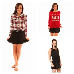 """Love these tops over our """"turning heads romper"""" for cool spring days!"""