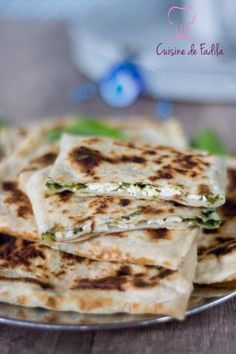 Gözleme galette turque farcie Gozleme, Meat Substitutes, Iftar, Naan, Crepes, Mashed Potatoes, Clean Eating, Brunch, Veggies