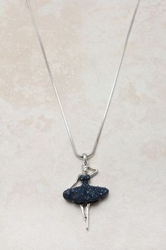 Sapphire Crystal Ballerina Pendant Necklace.