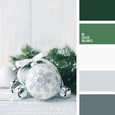 Christmas palette mood inspiration in greens Green Colour Palette, Green Colors, Color Palettes, Colours, Silver Color Palette, Pantone, Christmas Palette, Christmas Colors Palette, Color Balance