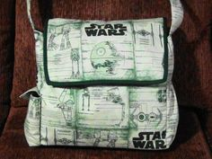 Star Wars Messenger Diaper Bag by InkandSpool on Etsy, $80.00