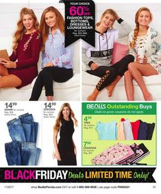 Bealls Florida Black Friday 2017 Ads and Deals Browse huge deals and savings as part of the Bealls Florida Black Friday 2017 sale. Find the cheapest prices of the year on everything from fashion fo. Black Friday 2017 Ads, Junior Dresses, Lounge Wear, Coupons, How To Apply, Florida, Tees, Stuff To Buy, Style