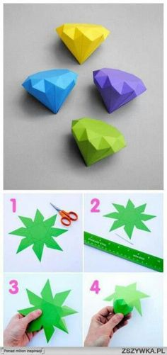Diy geometric paper folding