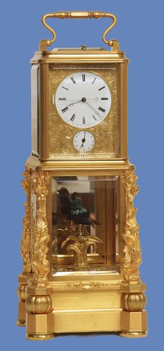 c. 1870 Rare French Automated Singing Bird Carriage Clock - Sundialfarm