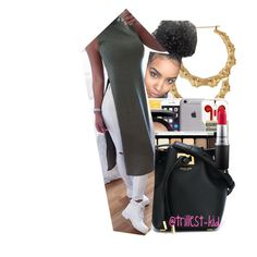 """""""Baby, I'm not stressed."""" by trillest-kid ❤ liked on Polyvore featuring The High Rise, MAC Cosmetics, NYX, Michael Kors and Karlsson"""