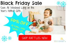 Click here to shop organic bamboo baby rattles this Black Friday weekend: http://kiddokorner.com/rattles/