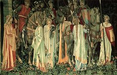 The Arming and Departure of the Knights by Edward Burne-Jones, William Morris and John Henry Dearle, c. 1890.