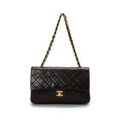 Chanel Medium Classic Double Flap Black Lambskin Shoulder Bag