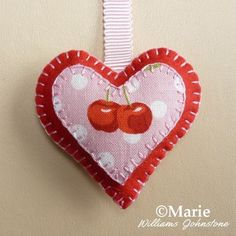 Plush Felt Heart Ornament