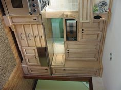 microwave behind cabinet doors - Google Search