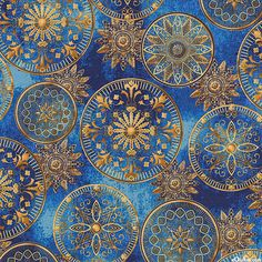 Star Gazing - Lunar Medallions - Sapphire Blue/Gold