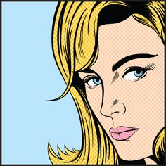 size: Stretched Canvas Print: Pop Art Woman : Cuisine Using advanced technology, we print the image directly onto canvas, stretch it onto support bars, and finish it with hand-painted edges and a protective coating. Vintage Comic Books, Vintage Comics, Art Nouveau, Art Deco, Joe Mcdermott, Pinup, Pop Art Women, Vector Pop, Pop Art Illustration