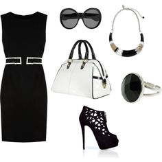 Black & White Work outfit!