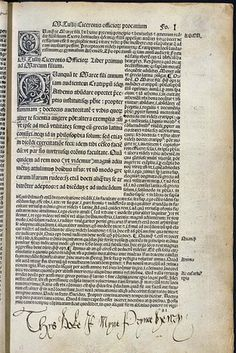 "1502: Henry VIII's schoolboy copy of a book by Cicero, on which he wrote ""Thys Boke is Myne Prynce Henry"""