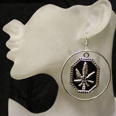 Pot leaf earrings, pot earrings, marijuana earring