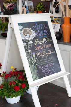 sidewalk chalkboard sign {Bowood Farm}