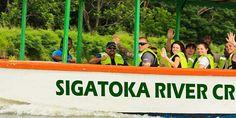 Enjoy a relaxing cruise along Sigatoka River on the beautiful island of Vita Levu! Discover the natural beauty of Fiji on a river safari. Fiji, Beautiful Islands, Backpacking, Serenity, Natural Beauty, Safari, The Outsiders, Backdrops, Cruise