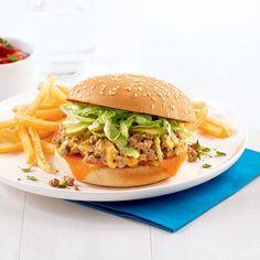 Sloppy Joe style Big Mac - 5 ingredients 15 minutes Sloppy Joe Casserole, Big Mac, Hamburger, Chicken, Ethnic Recipes, Pains, Food, Style, Pizza