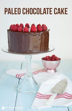 This Paleo Chocolate Cake Recipe looks DIVINE!