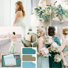teal and mint wedding color trends ideas #elegantweddinginvites #weddingcolors