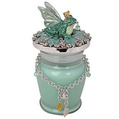 Kirks Folly Frog Prince Candle With Bracelet (Silvertone/Fairy Frolic) free ship