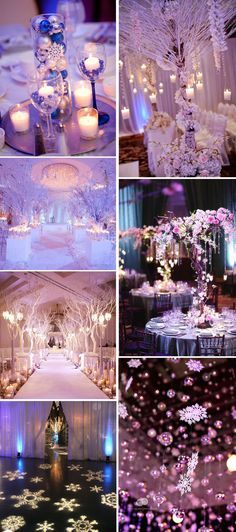 purple and pink wonderland winter wedding inspiration